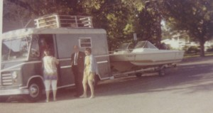 Dr. and Mrs. Tripp and the bread truck headed to the first youth Pensacola trip in 1965.