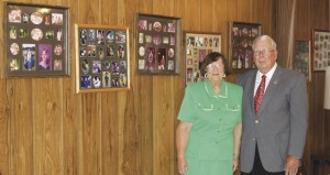 Holley Cochran / The Prentiss Headlight—Dr. and Mrs. Tripp in their home today. The walls display photos of countless men, women and children that have been welcome into their home and church, and have been a part of their lives over the past 50 years.