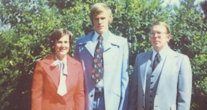 Dr. and Mrs. Tripp and their son Mark in the 70s.