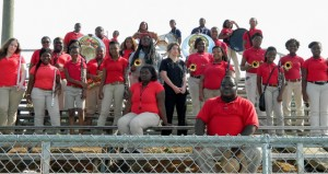 Shirley Burnham / The Prentiss Headlight—The PHS instrumental band is now under the direction of Andre Newell (front right).