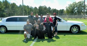 The Prentiss Headlight—Grand prize limo for the BHS Reading Challenge provided visual motivation for students to reach for the highest points by stepping up their reading. Challenge Committee members: Back: Sylvia Hall, Kelli Burns, Ferlisha Thompson, Robyn Burns, Melanie Jackson. Front: Coach Lance Mancuso, student reader Justin Ducksworth and BHS Principal Will Russell. Limo is furnished by Silas and Ollie Brent of BLS Limo Service in Monticello.