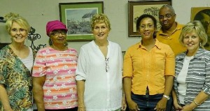 The Prentiss Headlight—Officers of the newly formed JDC Historical Group are L-R: V. Pres. Mary Curtis, Treasurer Mary Ann Hudson, Pres. Sylvia Ward, Project Coordinator Natalie Bell, Secretary Sarah Parkman and back: Parliamentarian Elvert Cole.