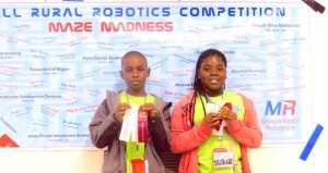 The Prentiss Headlight / Shirley Burnham—JDC 4th grade students Jekeyvien Williams and De-Messia Holloway brought home first place competition ribbons from the Elementary Robotics Competition held in Morton, MS.