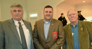 Shirley Burnham / The Prentiss Headlight—Guest speakers for the Fire Fighters Banquet included MS Deputy State Fire Marshall Ricky Davis, MS Fire Fighters Association President & Collins Fire Chief John Pope and North Forest Fire Chief Tommy McDermott.