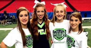The Prentiss Headlight—Three Junior Varsity Cheerleaders from Prentiss Christian School participated in the Chick-fil-A Peach Bowl in Atlanta on New Years Eve. Aspyn Rousse, Raye Johnson and Sarah Magee were all chosen as All-Americans at FCA Camp last summer receiving the honor to participate in the nationally televised event. The three were part of the pre-game parade, danced and cheered in the Fanfest Pep Rally and made their way onto the field for photos. The girls are pictured with their FCA swtaff Instructor, Bethany D'Alessandro.