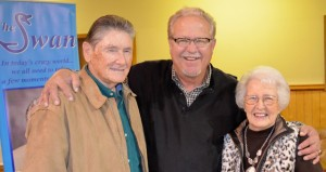 "Shirley Burnham / The Prentiss Headlight—Dr. Dennis Swanberg, ""the minister of encouragement,"" is pictured with Bro. Mike Sutton  and wife Anna Belle of Bethany Baptist Church."