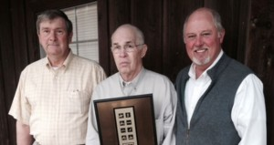 The Prentiss Headlight—The Longleaf Trace was recognized by the National Coalition for Recreational Trails for outstanding use of program funds in the category of Multiple-Use Management and Corridor Sharing.  Pictured are Jefferson Davis County committee members Charles Reid, Supervisor; Johnny Kerley, Bassfield Alderman; and Charley Dumas, Mayor of Prentiss.