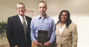 Holley Cochran / The Prentiss Headlight–Chad Shivers, Vice-President of SCCI, with Partnership Director Ben Hamby and Administrator Jerleen White.