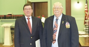 The Prentiss Headlight—The annual Memorial Day Service was moved inside Monday due to inclement weather. Guest speaker for the event was Colonel Charlie M. Thornton, Mississippi Army National Guard, Retired. Mr. Walt Moeller (USA, Retired), of the Prentiss Lions Club, was Master of Ceremonies