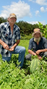 "The Prentiss Headlight / Distant cousins Glen and James Dyess have a ""pick it yourself"" garden in the Greens Creek Community"