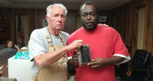 The Prentiss Headlight—Bassfield Volunteer Fire Chief Bill Matthews presents the Bassfield Fire Department Rookie of the year award to Leslie Gray.