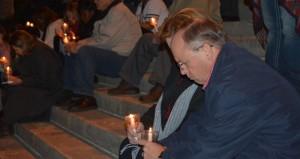 Shirley Burnham / The Prentiss Headlight–Moments in silent prayer to end abortion were observed on the steps of the Capitol that was attended by several for the county including Covington-Jeff Davis Baptist Association Director Bro. Tommy Broom and his wife Lynn.