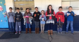 Holley Cochran / The Prentiss Headlight—3rd and 4th graders with their robots.