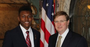 The Prentiss Headlight / Jaylon S. Hatnorne with Lt. Governor Tate Reeves.