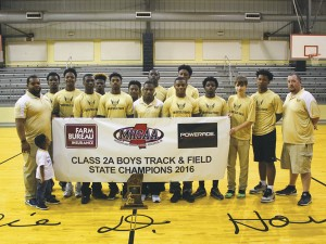 The Prentiss Headlight—The Bassfield Boys Track team has won the 2A Boys Track & Field State Championship. The team was highlighted by a star studded senior class featuring the class 2A record setting Sanchez Berry. Berry clocked a blazing 10.26 in the 100m this season.