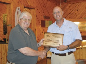 The Prentiss Headlight—Walt Moeller was recognized as the 2016 Jefferson Davis County Forestry Association Tree Farmer of the Year at the annual JDC Forestry Association Banquet held at Crossroads RestaurantMondayevening and presented a plaque by Association's VP James Fagan.