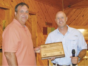 The Prentiss Headlight—Jason Boone, owner of Boone Timber Harvesting, LLC, was chosen for the 2016 Jefferson Davis County Forestry Association Logger of the Year Award.The award was presented by JDC Forestry Assoc. Vice President James Fagan.