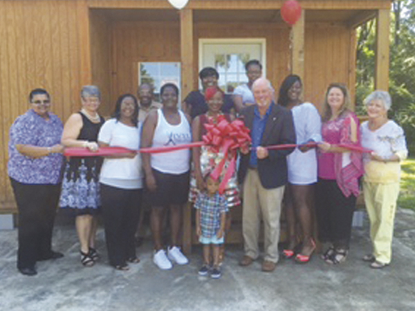 The Prentiss Headlight / Holley Cochran—A grand opening and ribbon cutting for Vivid Hair Studio on Columbia Avenue was held Wednesday.